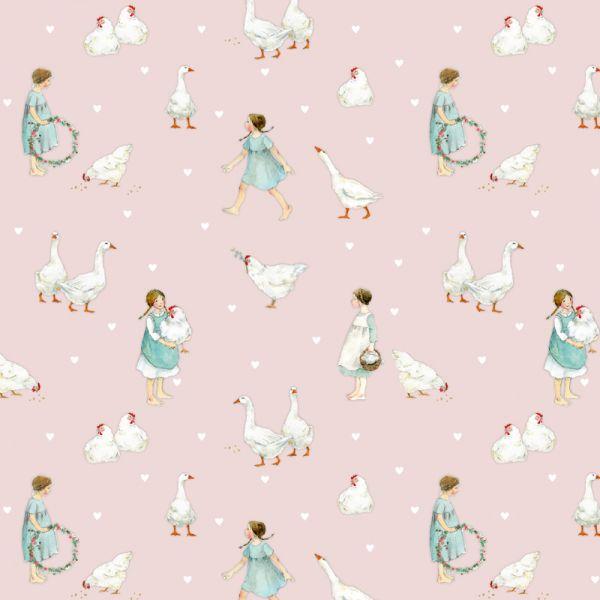 Patchworkstoff Stoff der Firma Acufactum mit illustrationen von Daniela Drescher