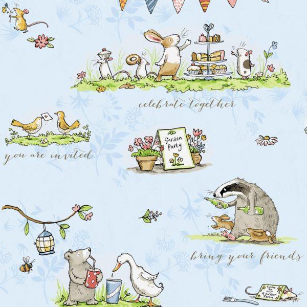 Patchworkstoffe,Gardenparty,Anita Jeram,Kinderstoffe,Clothworks,