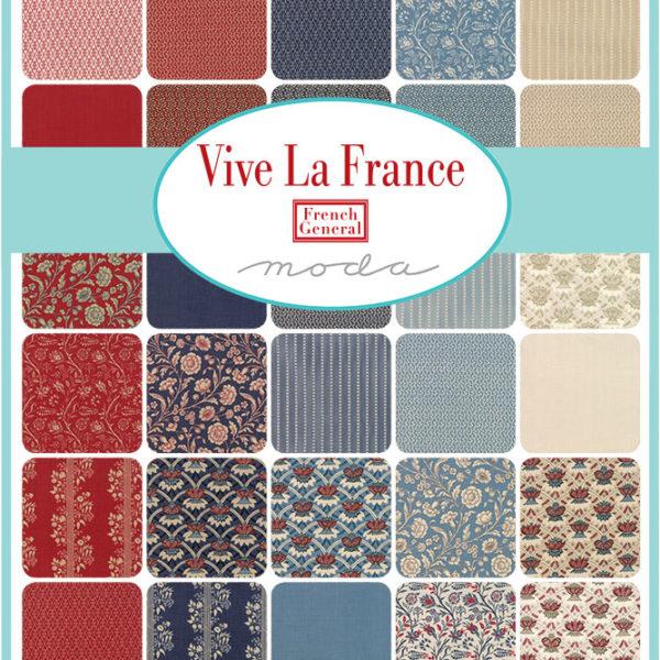 Vive la France von Moda sogenannte Precuts Layercake Charm Pack oder Jelly Roll