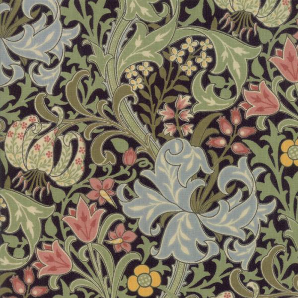 Jugendstilstoffe,Moda,Patchworkstoff, William Morris, Morris Garden,7330-13,Garden Lily
