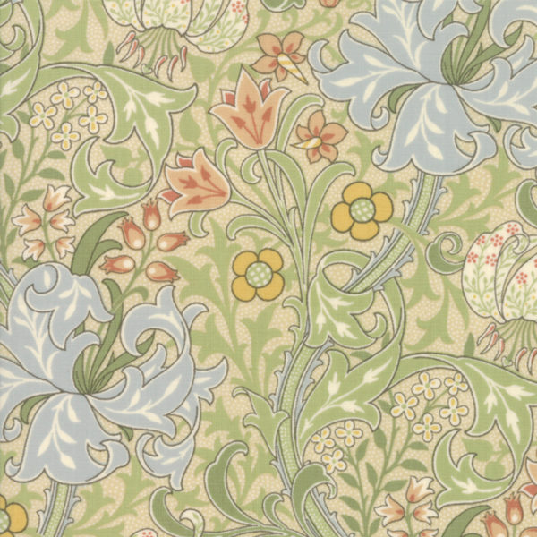 Jugendstilstoffe,Patchworkstoffe,Moda,William morris,7330-11,morris garden