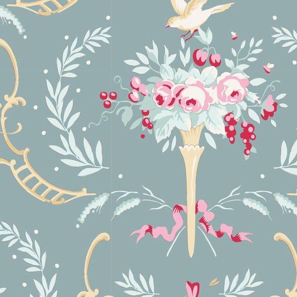 Tilda, Old Rose,Birdsong, Patchworkstoffe,Stoffe,