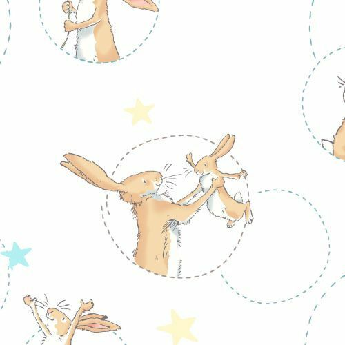 Stoff Guess how much i love you, clothworks,anita jeram,weisst du wie lieb ich dich habe,